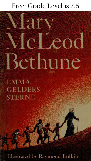cover showing Ms. Bethune leading a group of children