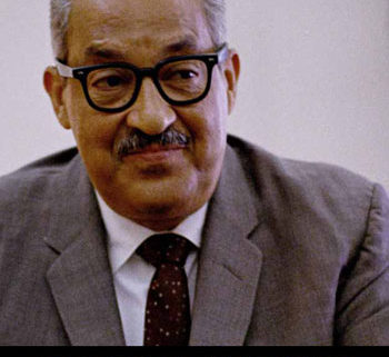 Photo of Thurgood Marshall in his 60's