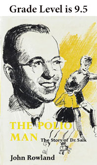 Book Cover with the Image of Dr. Salk